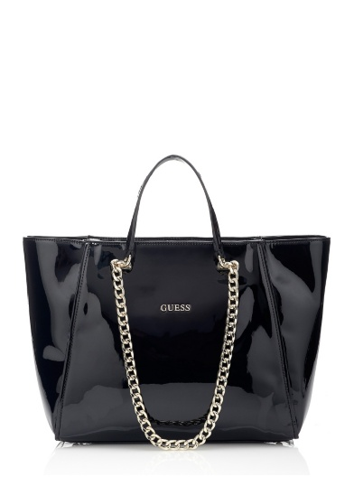 Guess  Nikki Patent Chain Tote Bag